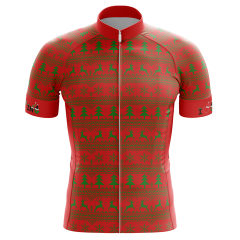 Christmas Tree Red Cycling Jersey