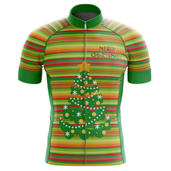 Merry Christmas Ride Green Men's Cycling Jersey