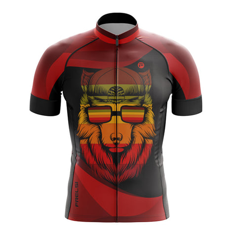 Wild Wolf Red Frelsi Cycling Jersey