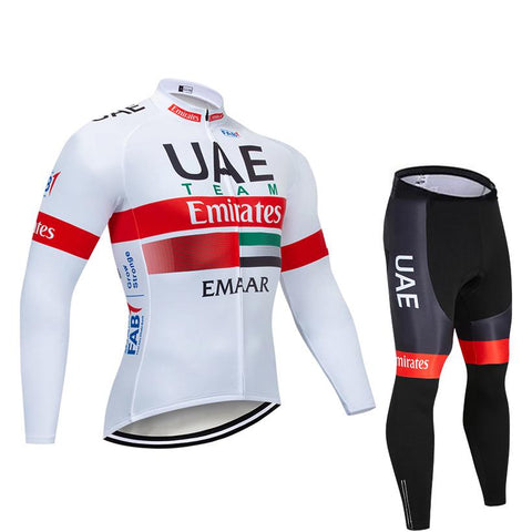 2020 UAE Men's Team Cycling Long Sleeve Jersey Set