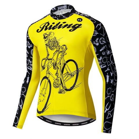 Rider Yellow Long Sleeve Jersey