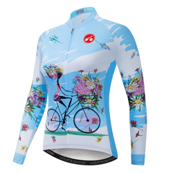 Cycling Girl Blue Jerseys