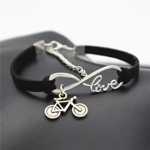 Love Leather Bicycle Bracelet