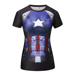 Captain America Women's Compression T Shirt