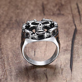 Bike Chain Skull Ring