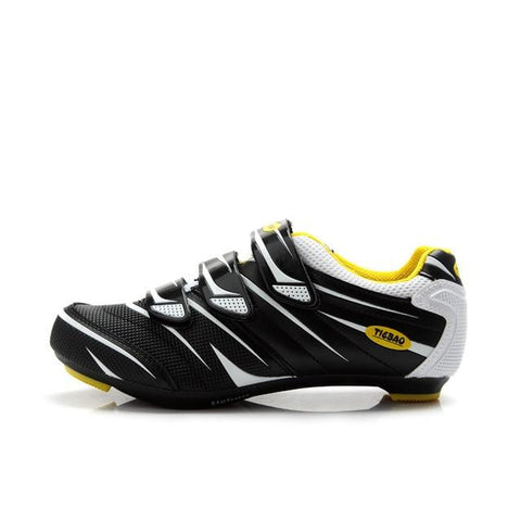 Silver/Black Road Bike Shoes