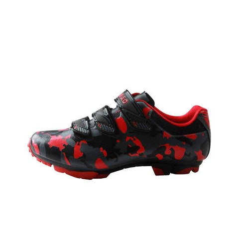 Red Camouflage Mountain Bike Shoes