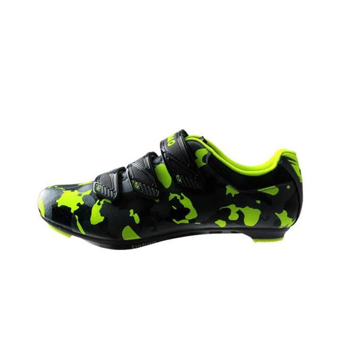 Green Camouflage Road Bike Shoes