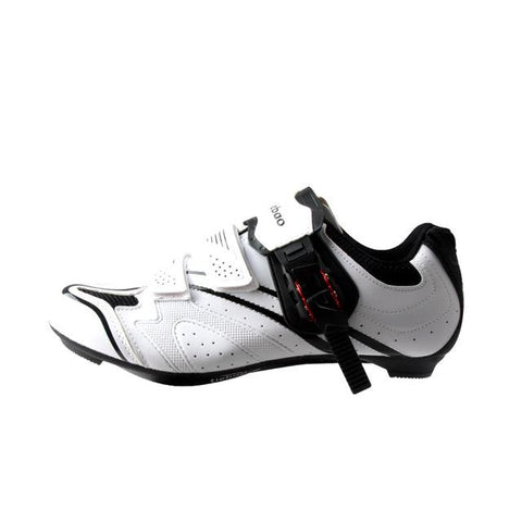 White/Black Road Bike Shoes
