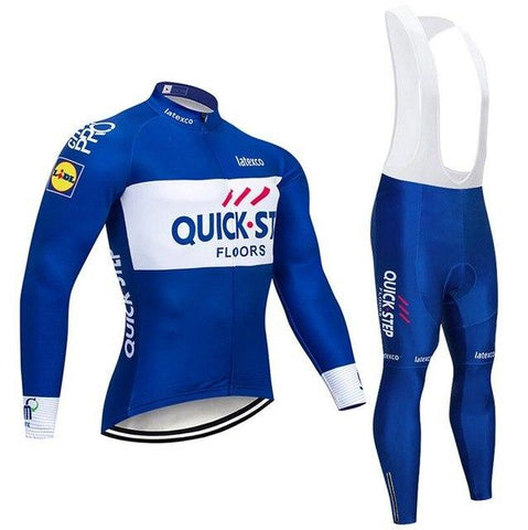 2020 QUICK STEP Team Long Sleeve Cycling Jersey Set