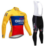 2021 QUICK STEP Team Long Sleeve Cycling Jersey Set