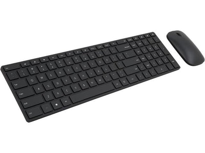 Microsoft Designer Bluetooth Desktop Black Bluetooth Wireless Slim Keyboard & Mouse