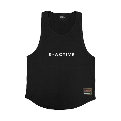 R-Active MUSCLE TANK - BLACK