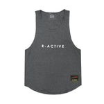 R-Active MUSCLE TANK - HEATHER GREY