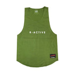 R-Active MUSCLE TANK - MILITARY GREEN