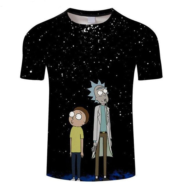 Men's Clothing Yx Girl Casual Unisex Rick And Morty Mens Summer Casual Shorts Cartoon 3d Print Loose Shorts