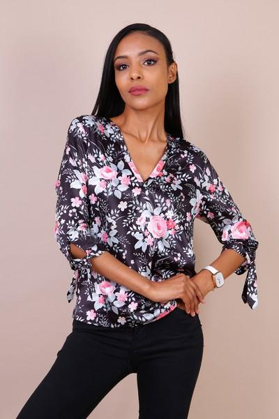Top noir floral - TATENUE