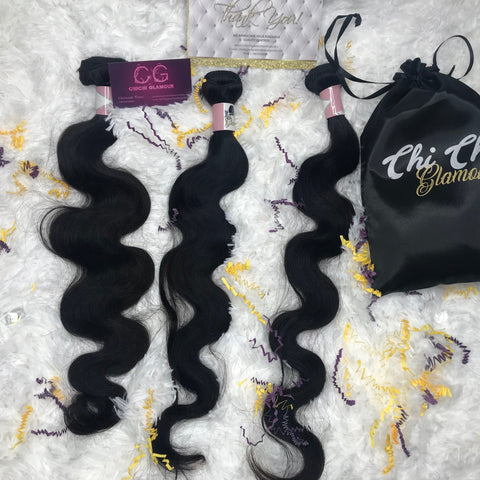 Body Wave Bundle with Closure by ChichiGlam