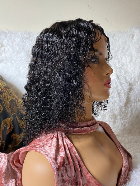 Kinky Curl Lace Closure 4x4 by ChichiGlam sideways