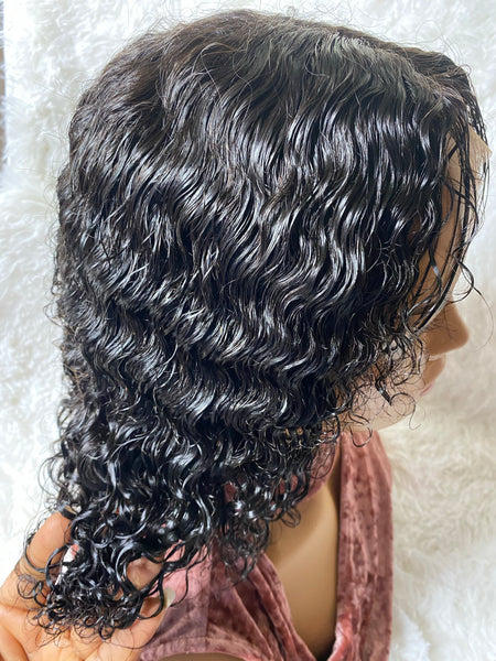 Kinky Curl Lace Closure 4x4 by ChichiGlam sidetop