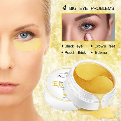 24K Gold Crystal Collagen Eye Mask Patches (30 Pairs)