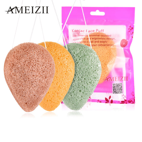 AMEIZII Face Cleanse Natural Konjac Sponge - 3 PK