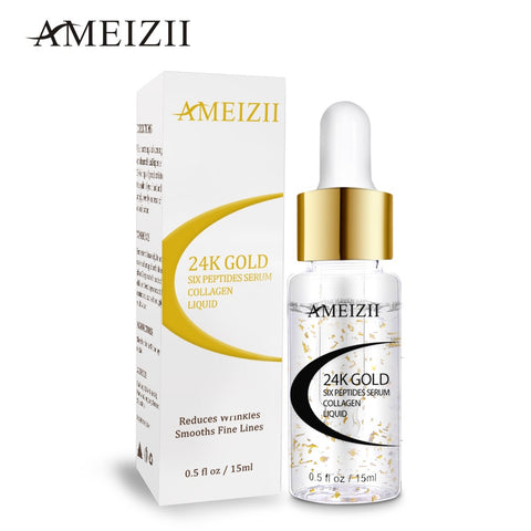 AMEIZII 24K Gold Six Peptides Collagen Moisturizing Hyaluronic Acid