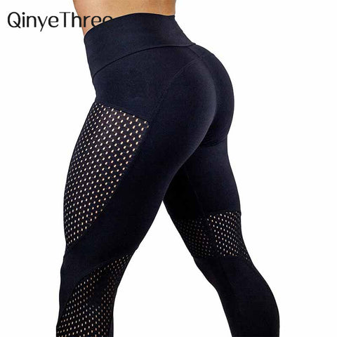 Women Elastic Sport Leggings Breathable Yoga Pants