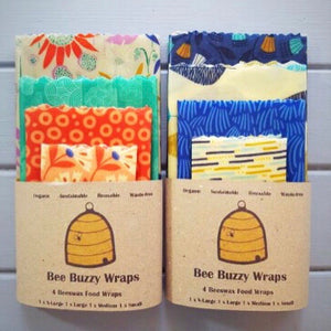 4 pack Beeswax Wraps