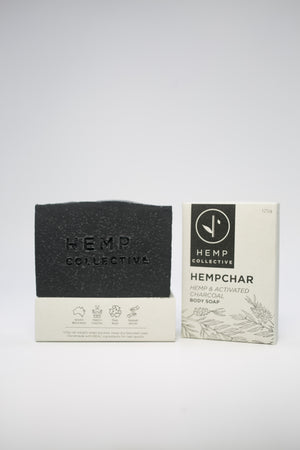Natural Hemp Soap Bar - Hemp and Activated Charcoal