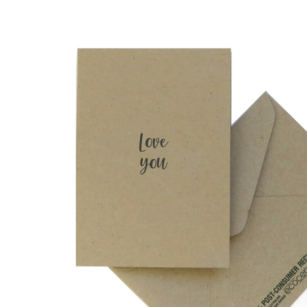 Greeting Card: Love you