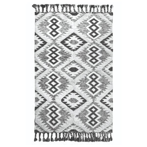 Life Wild | Natural Recycled Wool Aztec Rug