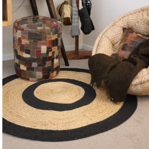 Life Wild | Black Stripe Recycled Jute Rug