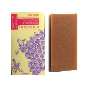 Life Wild | Beauty and the Bees Natural Soap Bar - Damask Rose and French Clay