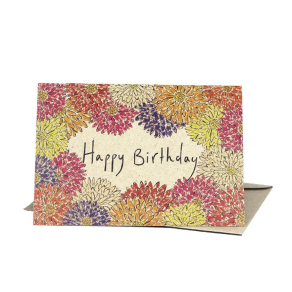 Life Wild | Deer Daisy Greeting Card: Happy Birthday Flowers