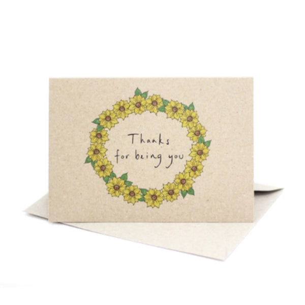 Life Wild | Deer Daisy Greeting Card: Thanks for being you