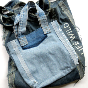 Life Wild | Little Circular Denim Tote