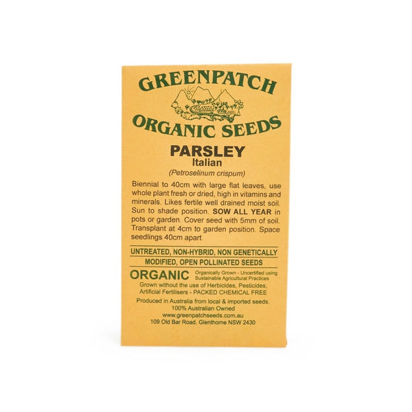 Life Wild - Australian Organic Seeds, Parsley