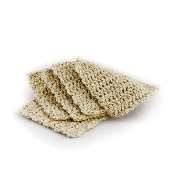 Life Wild - Organic Cotton Face Cloths - Beige