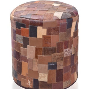 Life Wild | Recycled Leather Ottoman