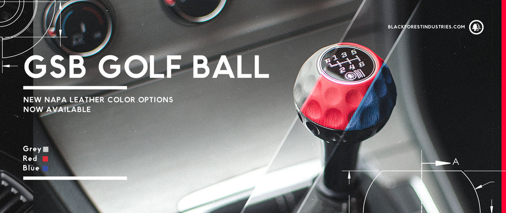 New Nappa Leather Colors for Golf Ball Shift Knobs
