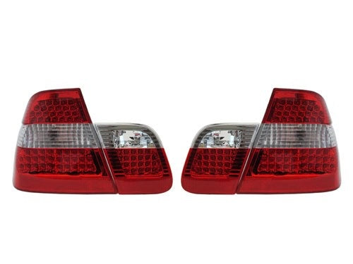 BMW E46 Taillights - Red/Clear/Red (4-Door, 1998-2001)