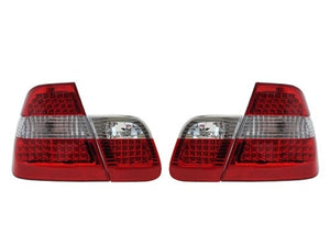 BMW E46 Taillights - Red/Clear/Red LED (4-Door, 1998-2001)