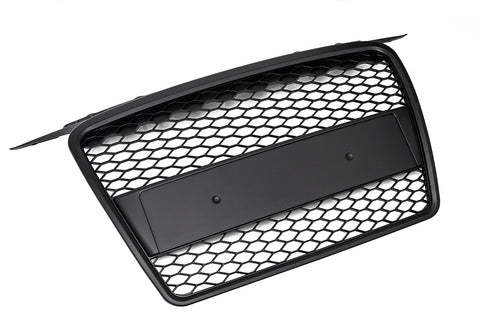 Audi A3 8P (Pre-facelift) Black Mesh Grille -Non S-Line- W/ Integrated Plate Holder