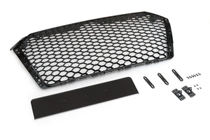 Audi B9 Black Optic Honeycomb RS Style Grille (non-S/S-line)
