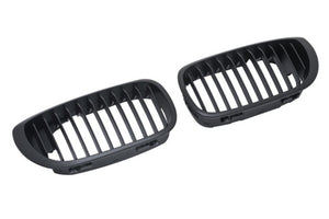 BMW E46 LCI 2-Door Matte Black Kidney Grilles