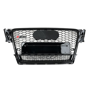 RS Style Grille for B8 A4/S4 (Pre-Facelift) - Black w/ Black Surround & Silver Quattro