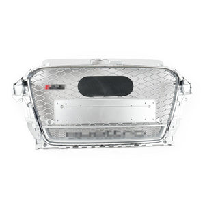 RS Style Grille for 8V/S3 Pre-Facelift - Silver With Silver Surround - Silver Quattro