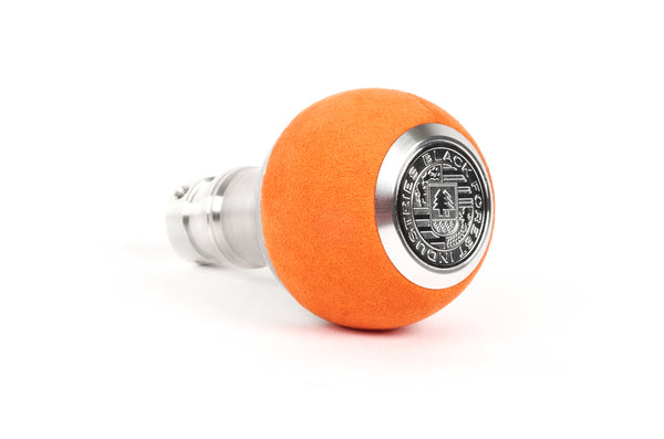 BFI GS2 Heavy Weight Shift Knob - Orange Alcantara (BMW Fitment)