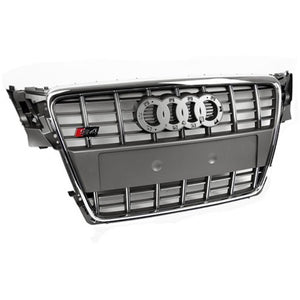 Audi B8 A4 S4-Replica Grille (Grey/Chrome)